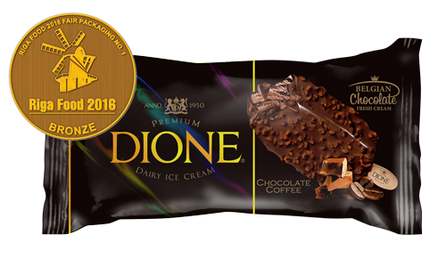 Dione ice cream packaging