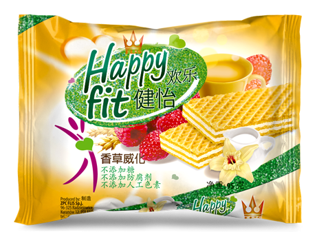 Happy Fit Neapolitan wafers. Silver award at EFIA Print Awards 2016