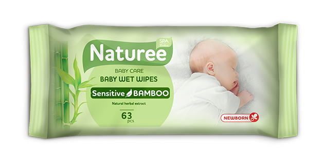 Flexible packaging for wet wipes Naturee Bamboo