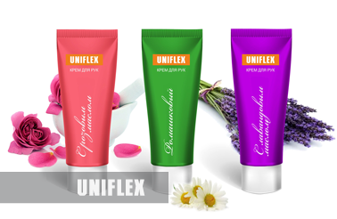 Uniflex hand cream label
