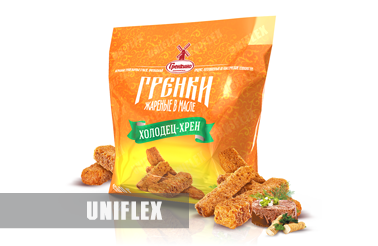 Flexible packaging for croutons