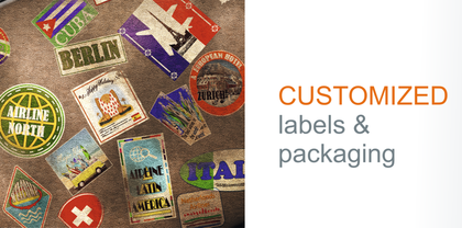 Ample options for customization of labels and flexible packages